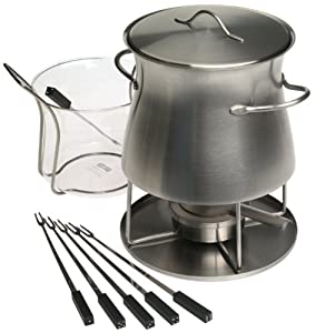 Bodum Stainless-Steel Fondue with Glass Insert