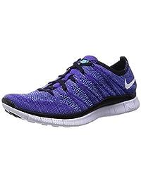 Nike Men's Free Flyknit NSW, COURT PURPLE/WHITE-PLRZD BLUE-BLACK