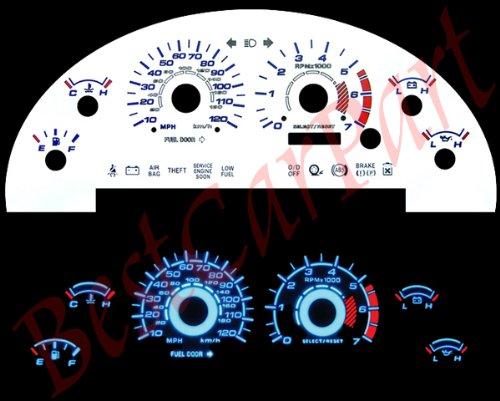 99-04 Ford Mustang V6 WHITE GLOW EL GAUGES