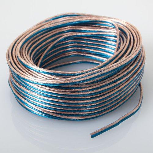 Audiotek - At-Spw18Ga/100B - Car Vehicle 18 Gauge Speaker Wire - 100 Feet Blue