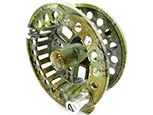 2+1 BB Aluminum Fly Reel 5/6 Flying Fishing Outside Diameter: 75mm Ash Camouflage from Made in China