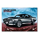 Poster art print: FORD SHELBY GT500 SKY MUSCLE CAR RACING SPORTS CLASSIC (A1 maxi - 61x91.5cm / 24x36in, semi-gloss satin paper)
