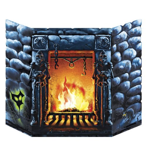 Beistle - 01030 - Scary Fireplace Stand-Up - Pack of 6
