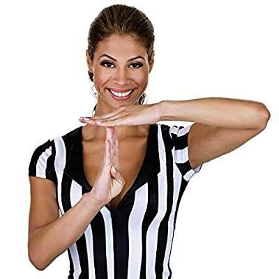 Crown Sporting Goods Women's Official Striped Referee/Umpire Jersey