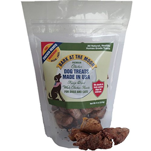 Premium-Chicken-Dog-Treats-Made-in-USA-Freeze-Dried-Whole-Chicken-Hearts-for-Dogs-Cats-One-Ingredient-Human-Grade-No-Fillers-Grain-Free-4oz-by-Green-Butterfly-Brands