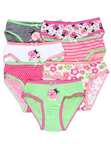 Caramel Cantina Girls 7 Pack Bikini Panties (2/3T, Ladybugs) front-356698