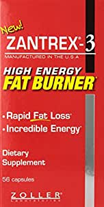 Zantrex-3 High Energy Extreme Fat Burner Capsules, 56 Count
