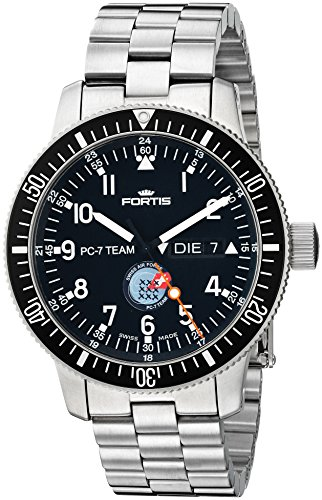 Fortis-Mens-6471091-PC-7-M-PC-7-Team-Analog-Display-Automatic-Self-Wind-Silver-Watch