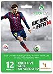 Xbox Live Gold 12-Month Membership Ca...