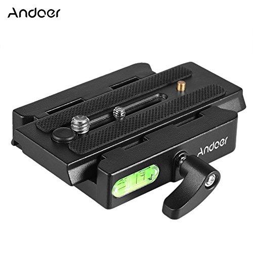 Andoer Caméra vidéo trépied Manfrotto Adaptateur de plateau rapide avec plateau pour Manfrotto 501 / 500Ah / 701HDV / 503HDV / Q5 Head
