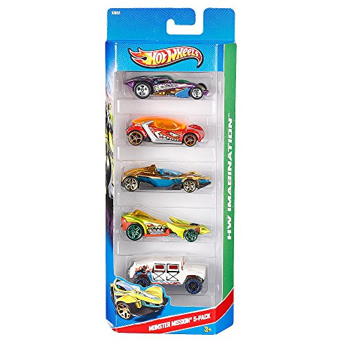 Hot Wheels 5- Pack Monster Mission X9860 - 1