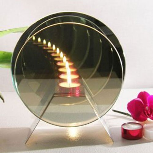 Infinity Candle - Magical Effect of Candles Mirrored - Glass Tealight Holder