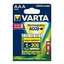 Varta - Pile Rechargeable - 1000 mAh - AAA x 4 - Professional (LR03)
