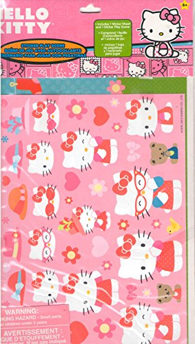 Hello Kitty Sticker Sheet and Sticker Play Sheet Set