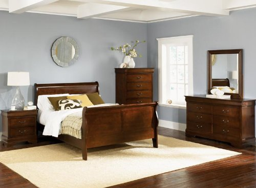 carrington cherry king size sleigh bedroom set top furniture store