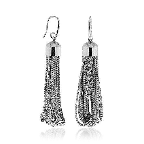 Gioiello Italiano - Orecchini in tessuto metallizzato e argento