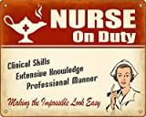 Sale Nurse On Duty Sign / Wall Plaque (Female in Uniform) review