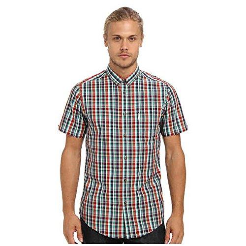 (ベンシャーマン) Ben Sherman メンズ トップス 半袖シャツ Multicolour Check S/S 並行輸入品