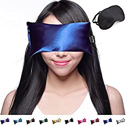 Unscented Eye Pillow Yoga Eye Pillow For Stress & Migraine Relief Eye Pillows Made In Usa. Use Hot Or Cold For Stress Relief, Headaches, Sinus Pain & To Relax. By Happy Wraps The Perfect Gift (Sapphire)
