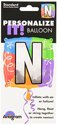 Anagram International Letter N Quad Package Balloon, 18""