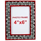 The Art Treasure Photo Frame With Mother Of Pearl Red Black Wood
