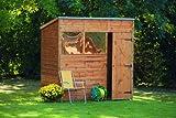 7' x 5' Wooden Garden Shed Single Door Pent Roof Shiplap Wood 10 Year Anti-Rot Guarantee