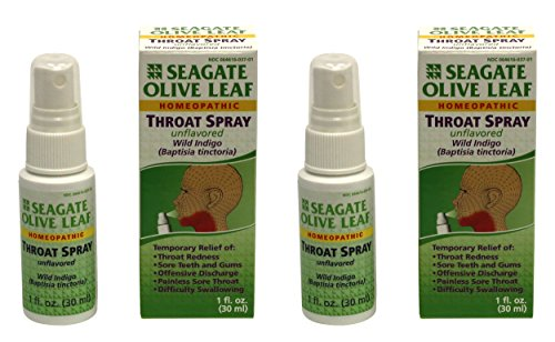 Seagate Products Homeopathic Olive Leaf Throat Spray 1 ounce Unflavored 2pack (Olive Leaf Extract Throat Spray compare prices)
