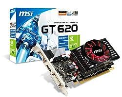 MSI NVIDIA GeForce GT 620 2GB GDDR3 VGA/DVI/HDMI Low Profile PCI-Express Video Card N620GT-MD2GD3/LP