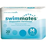 Swimmates Disposable Adult Swim Diapers, Medium, 20
