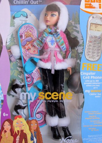 511T5cCE2cL Buy  Barbie My Scene Chillin Out NOLEE DOLL w Ski Board & MORE! (2003)