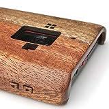 AQUOS PHONE ZETA SH-02Eケースカバー(木製:高級木マホガニー)無料修理保証有り