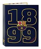 Barça-2 - Carpeta, 4 anillas, lomo ancho (Safta 511562657)