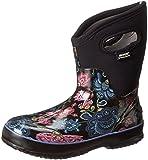 Bogs Women's Classic Mid Winter Blooms Waterproof Boot