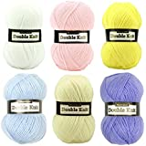 Marriner Double Knit Baby Pack   Double Knit Yarn for Beautiful Baby Garments   100% Acrylic   6 x 100g balls