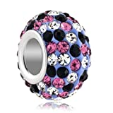 Pugster Jewelry Silver Plated Birthstone Bead Fit Pandora Charms