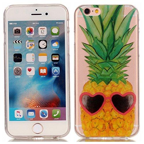 Ecoway copertura / coperture / insiemi di telefono / shell protettivi apparecchi telefonici mobili chiari e trasparenti Custodia TPU silicone Crystal per Apple iPhone 6/6S(4.7 Zoll), case cover protettivo disegno speciale - ananas