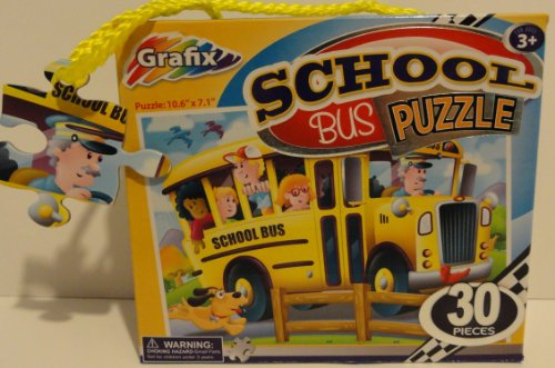 Grafix 30 Piece School Bus Puzzle - 1