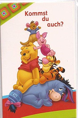 Kindergeburtstag Einladung Winnie Pooh - Kommst du auch? - 5 Einladungskarten inkl. Umschlag