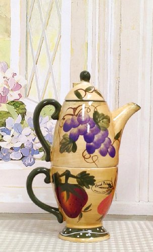 Tuscan Collection Deluxe Hand-Painted Tea for One Set