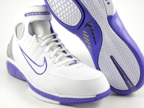 3da3ca911cb1 nike zoom huarache 2k4 white purple kobe basketball shoes men 511425 115