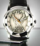 Harley-Davidson® Bulova® Men's Watch. Raise pewter dial. 76A12