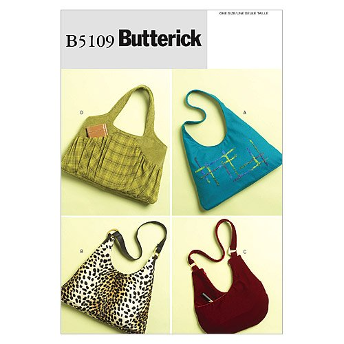 Butterick Patterns B5109 Large Bags, All Sizes