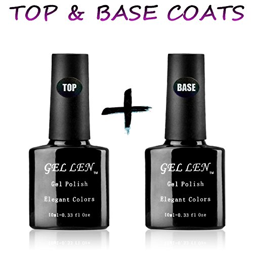 Gellen-UV-LED-Gel-Top-Coat-Base-Coat-Set-Each-10ML