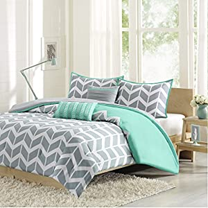 Intelligent Design ID10-232 Nadia Comforter Set Full/Queen Teal,Full/Queen