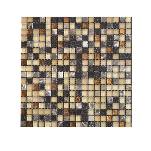 glass tile stone mix copper look mosaic tile
