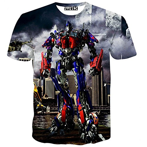 Cool Transformers Optimus Prime Printed 3D T shirt Short Sleeve T Shirts T-shirt