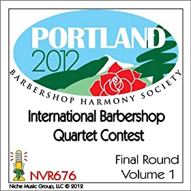 CD cover for 2012 International Barbershop Quartet Contest - Final Round - Volume 1