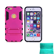 buy Moment Dextrad [Non-Slip][Shockproof]][Stand Feature]Dual Layer Armor Defender Shock Absorption Protective Skin Best Case Cover For Iphone 6 Plus 5.5 Inch (Pink)