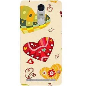 Casotec Hearts Design 3D Hard Back Case Cover for Lenovo K5 Note