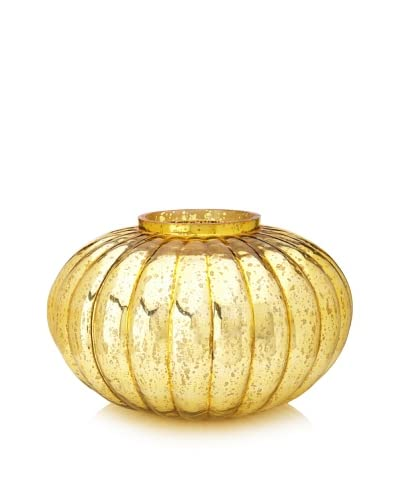 Jamie Young Large Fluted Ball Vase, Italian Gold As You See